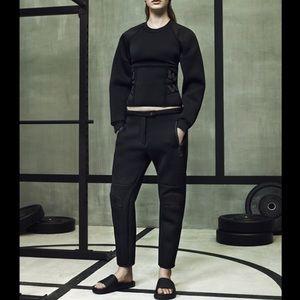 ALEXANDER WANG H&M scuba black pants gym